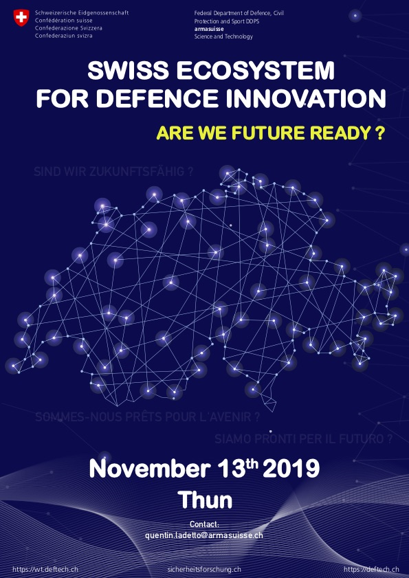 Save-The-Date_Swiss-Ecosystem-for-Defence-Innovation-13th-November-2019