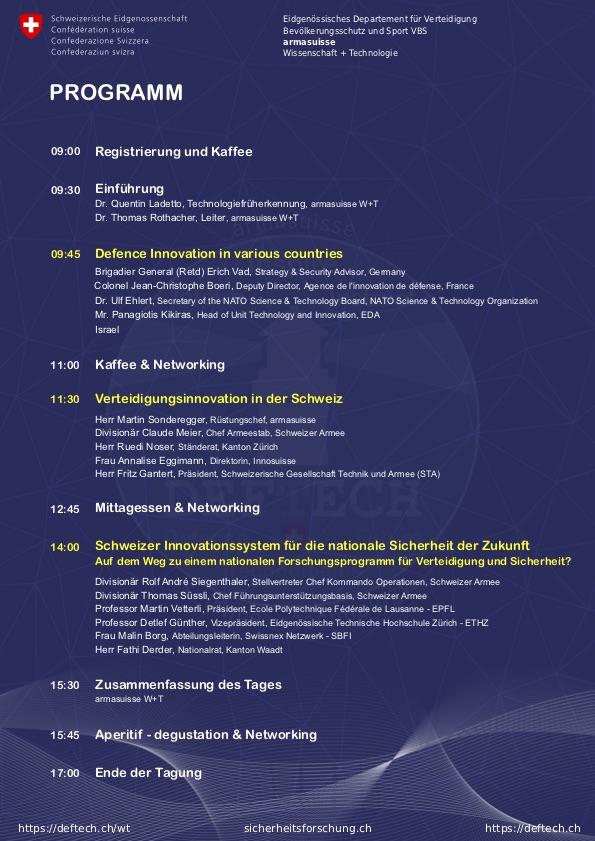 Programm-DEFTECH-Schweizer-Innovationssystem-fuer-die-nationale-Sicherheit-13th-November-2019